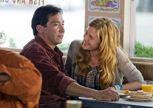 "Saving Grace - Season 3 - ""That Was No First Kiss"" - Benito Martinez and Holly Hunter"