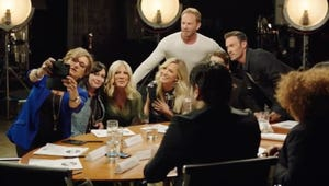 Look at All These Famous People From Beverly Hills, 90210 Reuniting Around a Table Set to Some Music