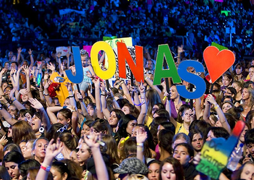 Disney Channel Games - Fans display a Jonas Brothers sign at the Disney Channel Games Concert in Lake Buena Vista, Florida