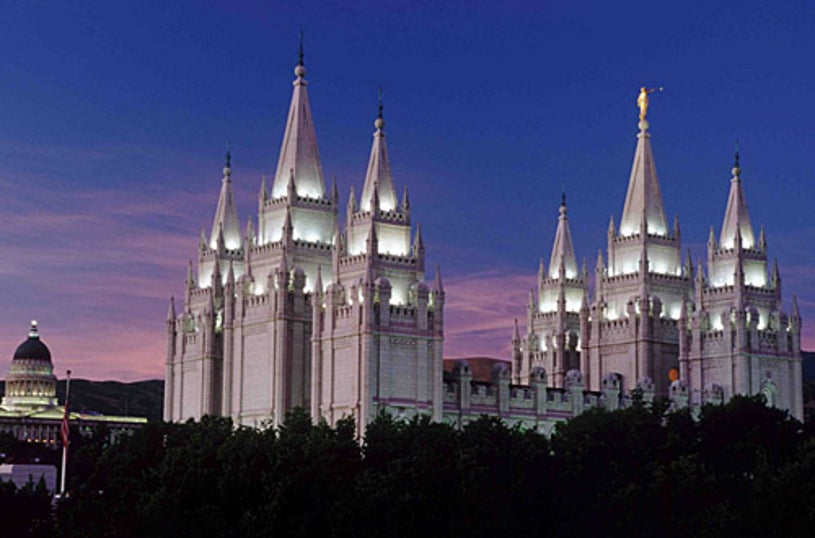 """American Experience and Frontline- """"The Mormons"""" - Salt Lake Temple of The Church of Jesus Christ of Latter-day Saints."""