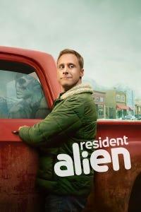 Resident Alien as Captain Hah Re/Dr. Harry Vanderspeigle