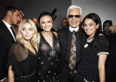 Ashley Olsen, Diane Kruger, Karl Lagerfeld and Lindsay Lohan - Chanel event in New York City, December 7, 2005