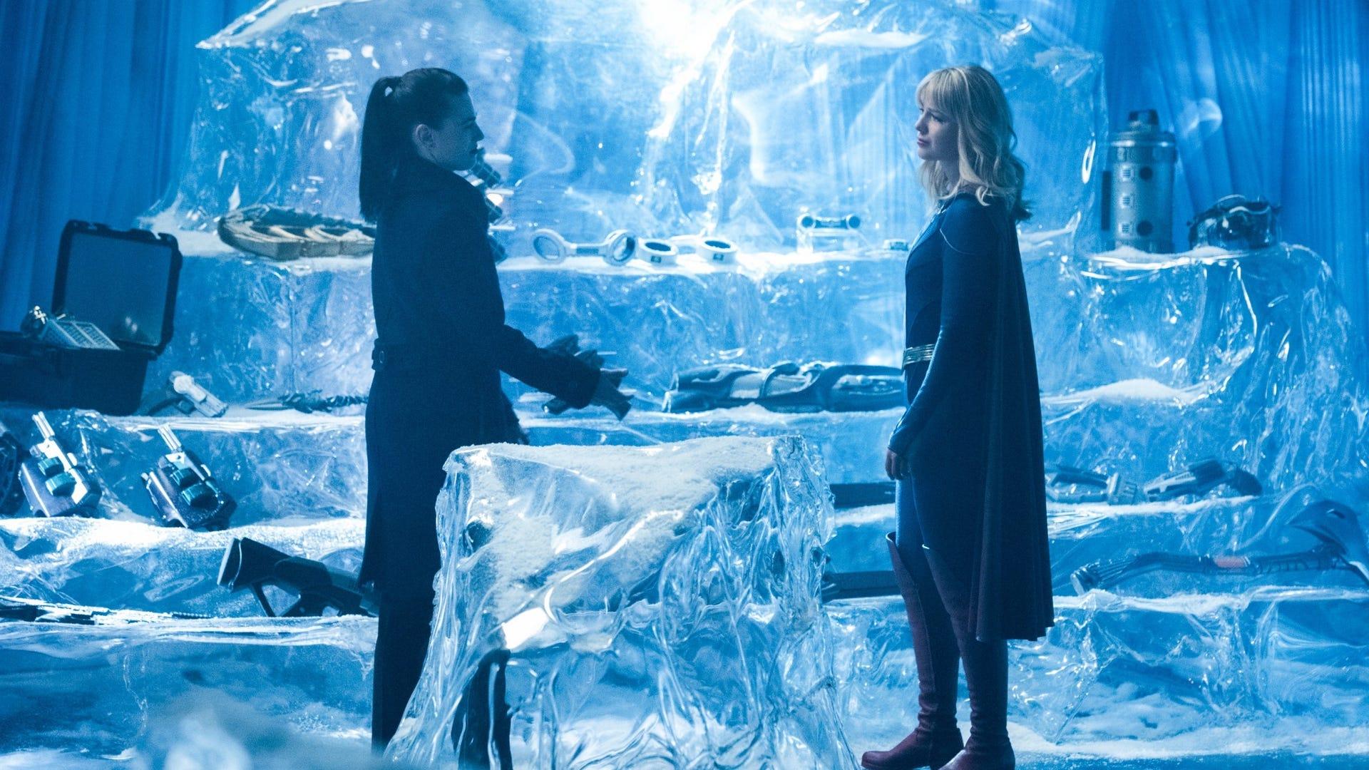 Katie McGrath and Melissa Benoist, Supergirl