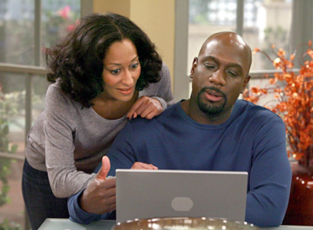 "Girlfriends - ""A House Divided"" - Tracee Ellis Ross as Joan, Richard T. Jones as Aaron"