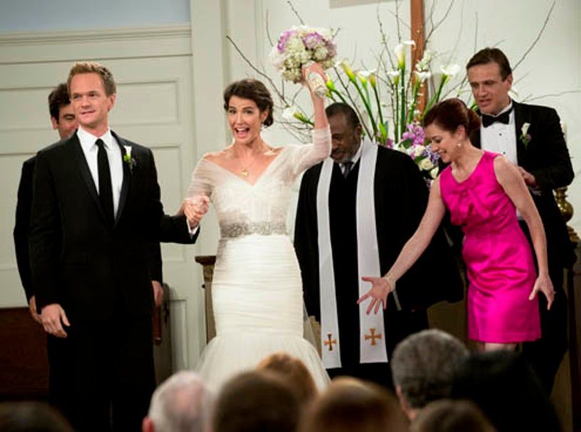 """How I Met Your Mother - Season 9 - """"The End of the Aisle"""" - Josh Radnor as Ted, Neil Patrick Harris as Barney, Cobie Smulders as Robin,, Ben Vereen as Rev. Sam Gibbs, Alyson Hannigan as Lily, Jason Segel as Marshall"""