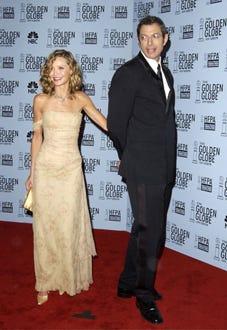 Calista Flockhart and Jeff Goldblum - The 60th Annual Golden Globe Awards, January 19, 2003