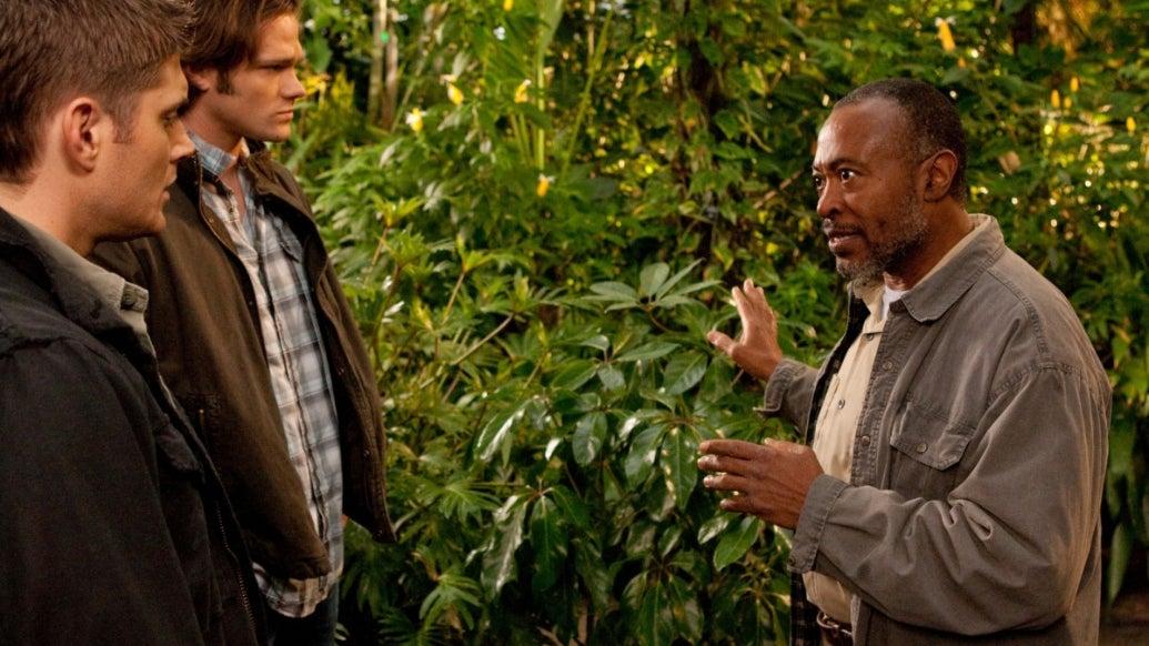 Jensen Ackles, Jared Padalecki, and Roger Aaron Brown; Supernatural