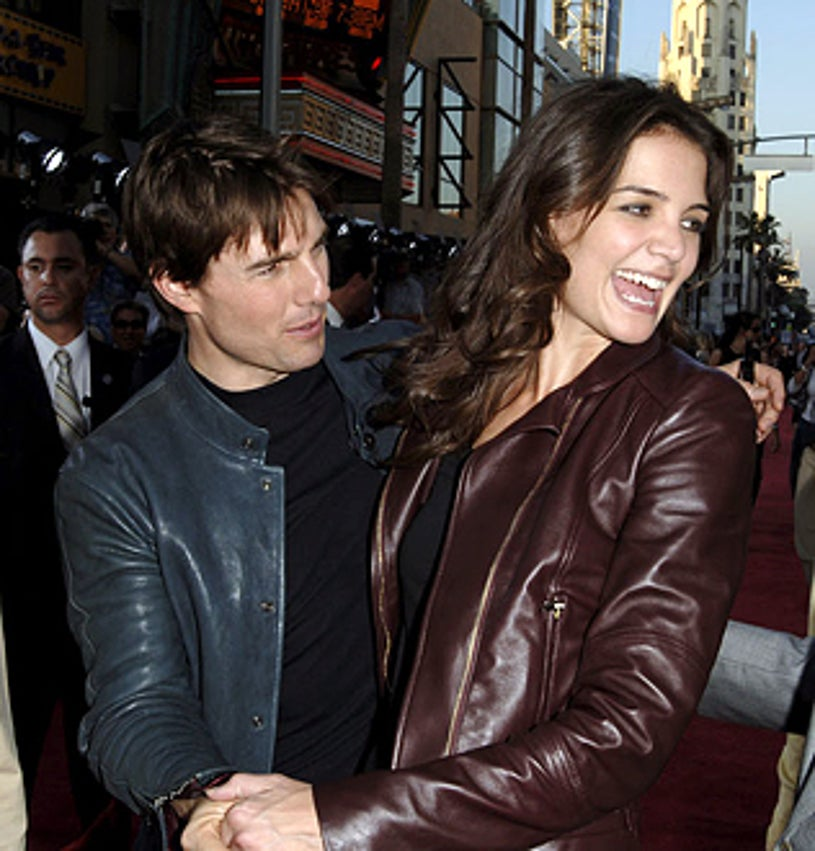 """Tom Cruise and Katie Holmes - """"War of the Worlds"""" Los Angeles Fan Screening"""