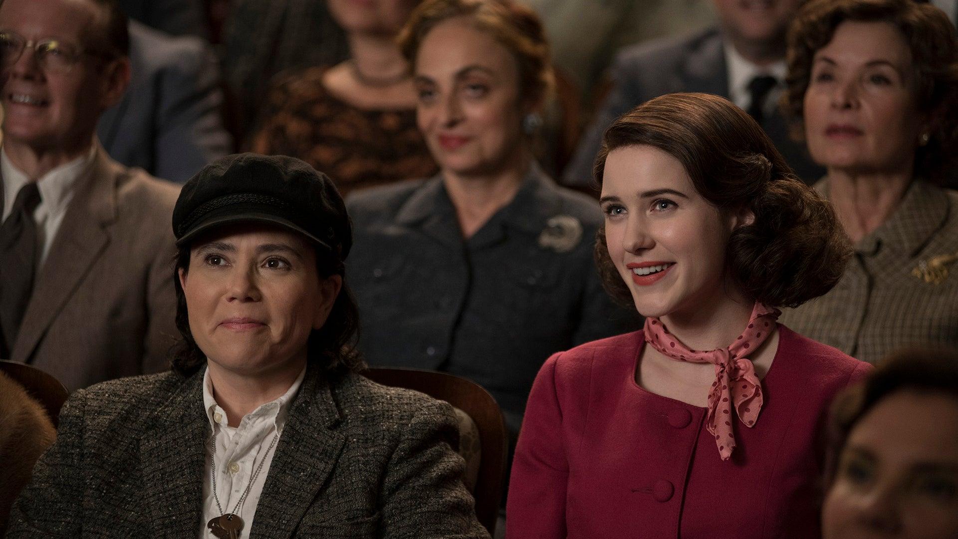 Alex Borstein and Rachel Brosnahan, The Marvelous Mrs. Maisel