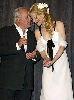 "Anthony Hopkins and Jacinda Barrett - 2003 Toronto International Film Festival ""The Human Stain"" premiere, September 6, 2003"