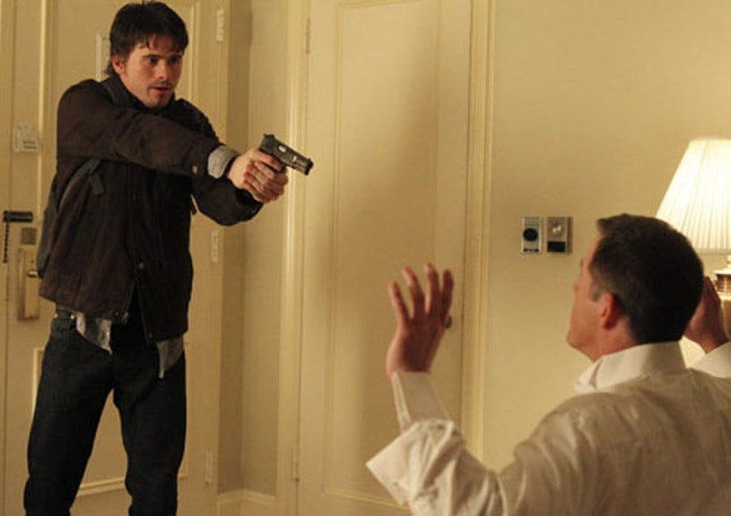 """The Event - Season 1 - """"A Message Back"""" - Jason Ritter as Sean Walker and Gary Weeks as Ted Fisk"""