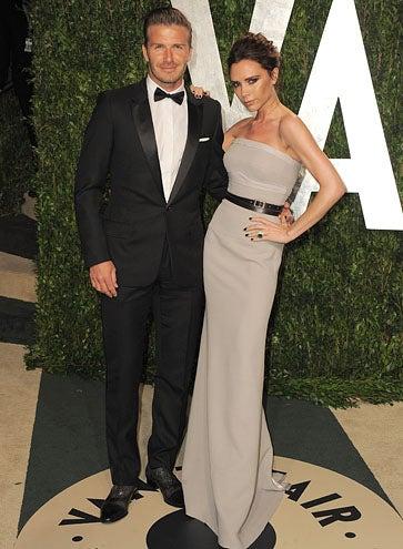 David and Victoria Beckham - The 2012 Vanity Fair Oscar party, February 26, 2012
