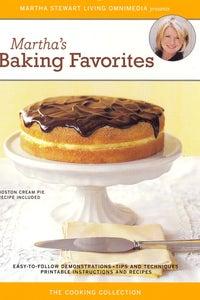 Martha Stewart: Martha's Baking Favorites as Intsructor/Host