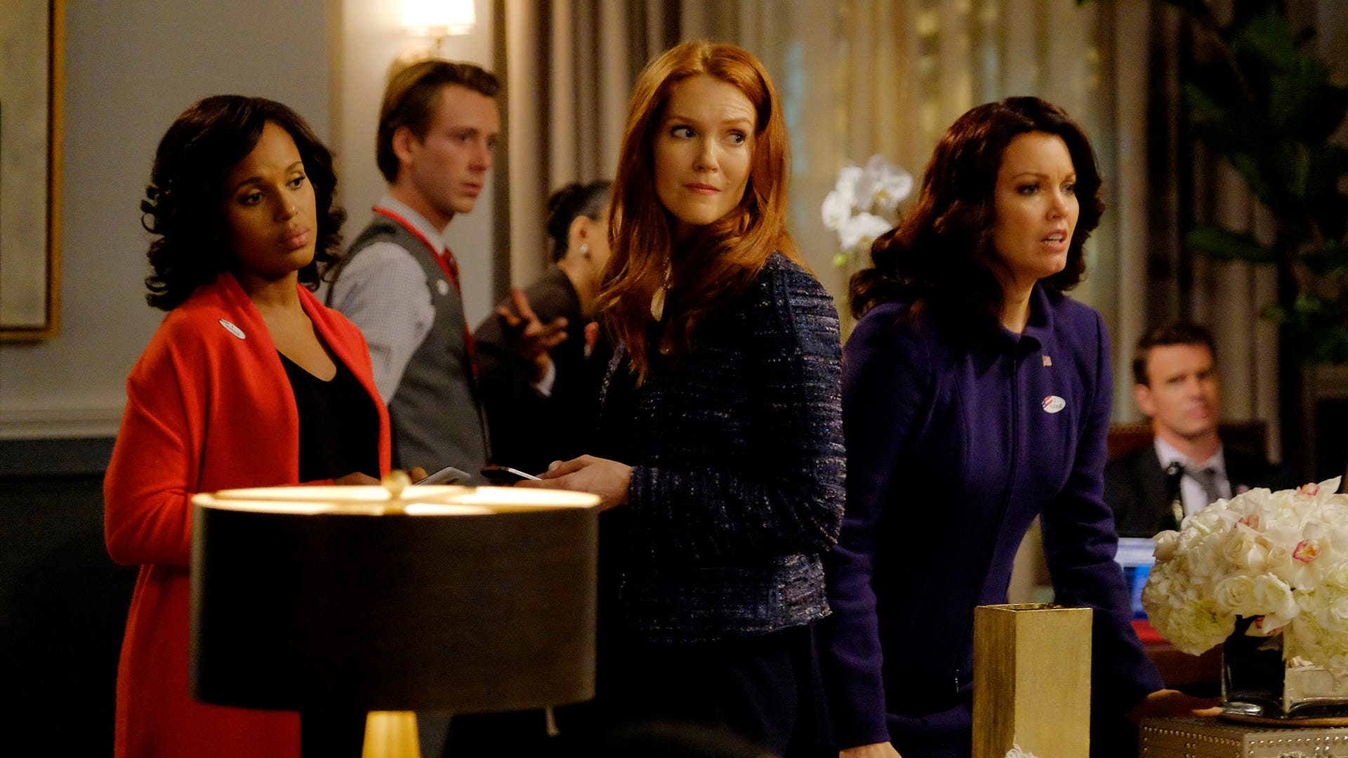 Kerry Washington, Darby Stanchfield and Bellamy Young, Scandal
