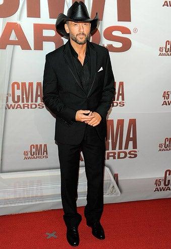 Tim McGraw - The 45th annual CMA Awards  in Nashville, November 9, 2011