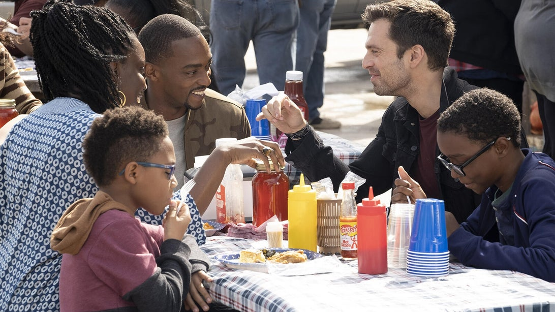 Adepero Oduye, Anthony Mackie, and Sebastian Stan, The Falcon and the Winter Soldier