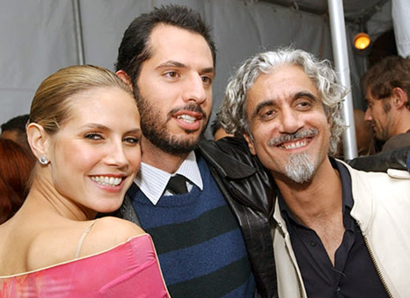 Heidi Klum, Guy Oseary and Ric Pipino - The 2002 VH1 Vogue Fashion Awards after party, October 15, 2002
