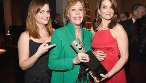 Tina Fey, Amy Poehler Steal the SAG Awards Presenting Life Achievement Award to Carol Burnett