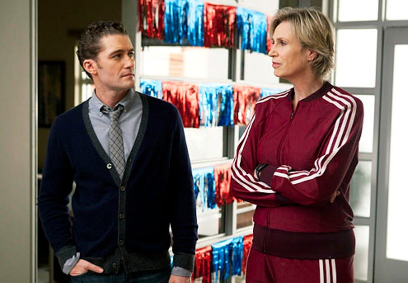 """Glee - Season 3 - """"The First Time"""" - Matthew Morrison as Will and Jane Lynch as Sue"""