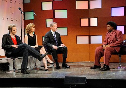 "Saturday Night Live - Season 35 - ""Joseph Gordon-Levitt"" Episode 1561 - Bill Hader, Kristen Wiig, Al Gore, Kenan Thompson"