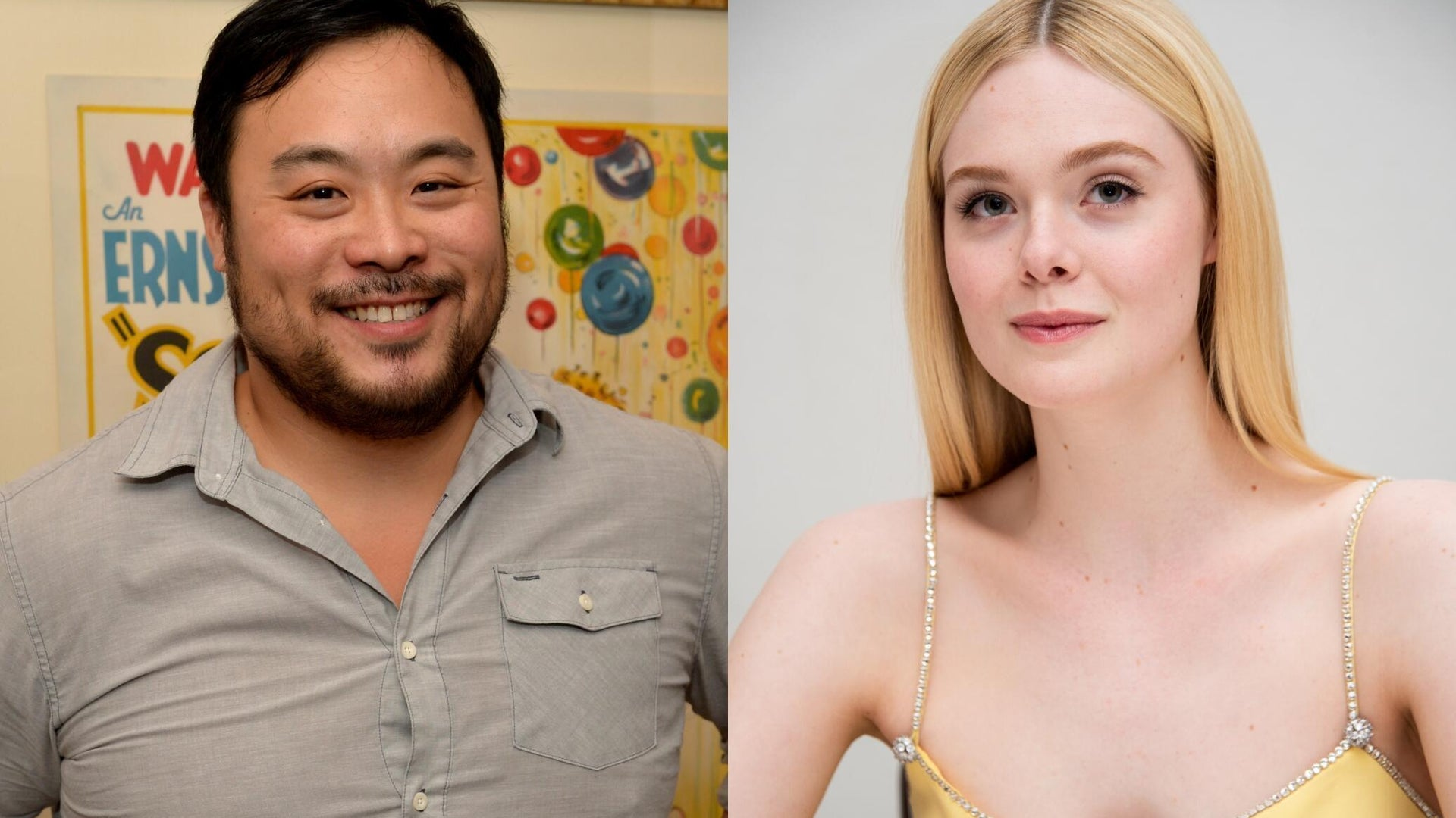 David Chang and Elle Fanning