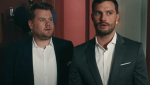 James Corden Shows Jamie Dornan His Secret Room in Hilarious Fifty Shades Parody