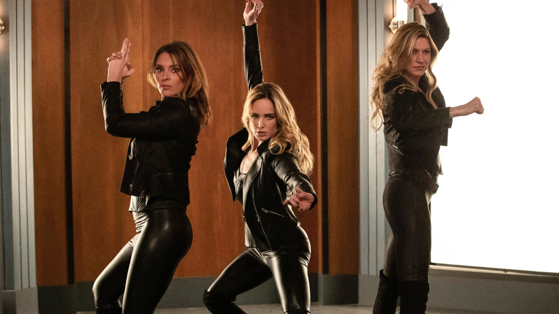 Amy Louise Pemberton, Caity Lotz and Jes Macallan, DC's Legends of Tomorrow