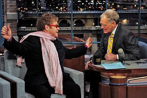 Late Show with David Letterman - Elton John, David Letterman - February 9, 2011