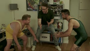 Late Late Show: Seth Rogen and Dominic Cooper Moonlight as Terrible Pizza Delivery Men