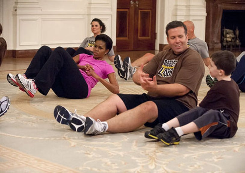 The Biggest Loser - Season 13 - First Lady Michelle Obama and Buddy Shuh