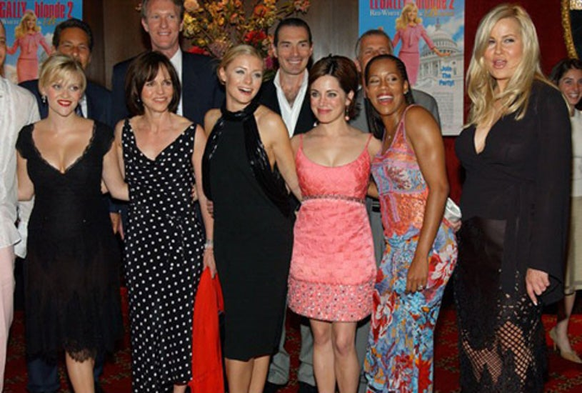 """Reese Witherspoon, Sally Field, Jessica Cauffiel, Alanna Ubach, Regina King and Jennifer Coolidge -""""Legally Blonde 2 Red, White & Blonde"""" premiere in New York City, June 30, 2003"""