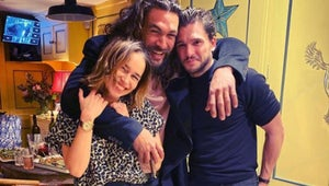 Emilia Clarke Had a Swoony Reunion with Game of Thrones Loves Jason Momoa and Kit Harington