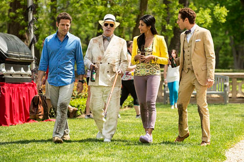 """Royal Pains - Season 4 - """"Dawn of the Med"""" - Mark Feuerstein, Henry Winkler, Reshma Shetty and Paulo Costanzo"""