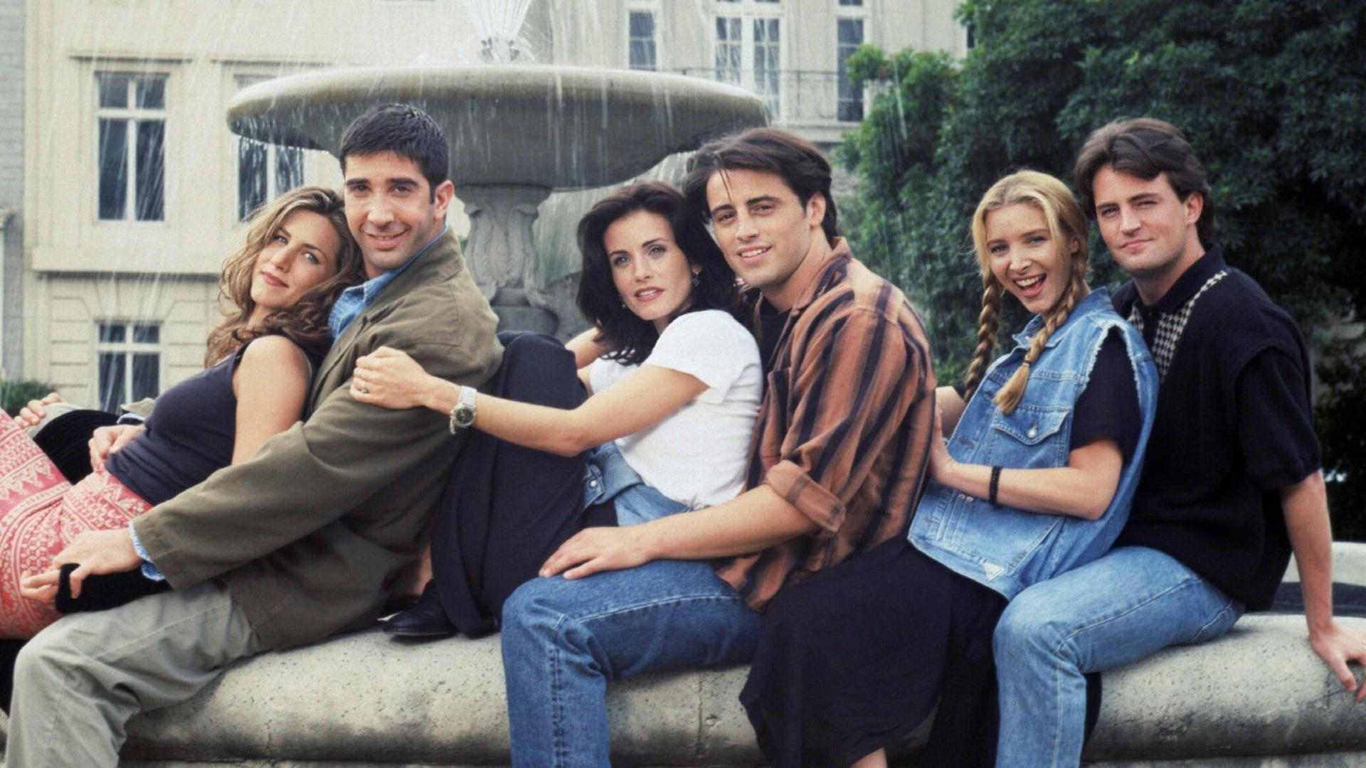 Jennifer Aniston, David Schwimmer, Courteney Cox, Matt LeBlanc, Lisa Kudrow, and Matthew Perry, Friends