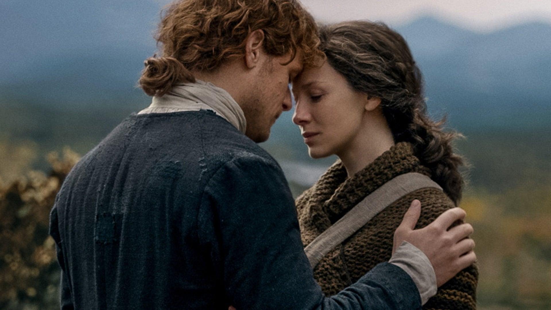 Sam Heughan and Caitriona Balfe, Outlander