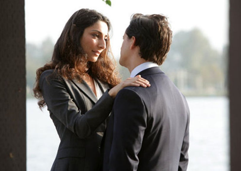 """The Event - Season 1 - """"Your World To Take"""" - Necar Zadegan as Isabel and Clifton Collins, Jr. as Thomas"""