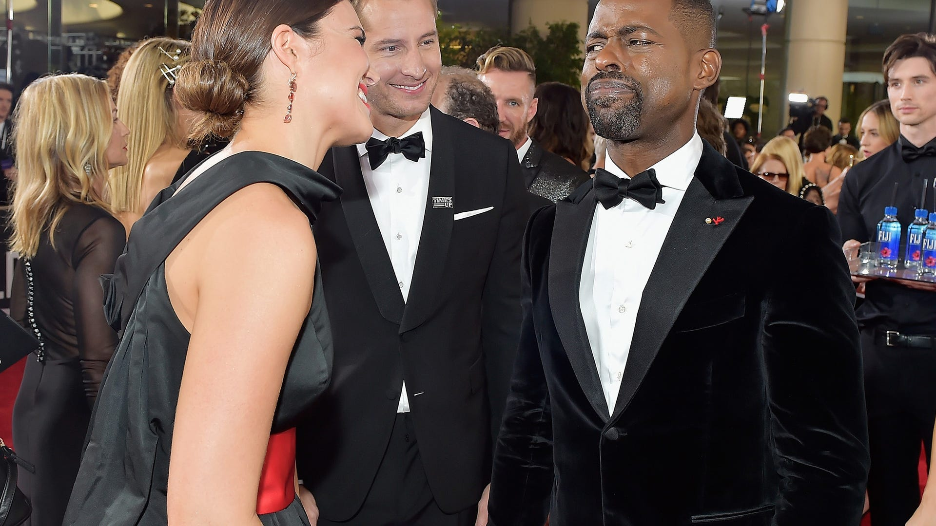 Sterling K. Brown, Mandy Moore and Justin Hartley, This Is Us
