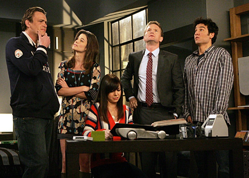 """How I Met Your Mother - Season 3 - """"The Bracket"""" - Jason Segel as Marshall, Cobie Smulders as Robin, Alyson Hannigan as Lily, Neil Patrick Harris as Barney and Josh Radnor as Ted"""