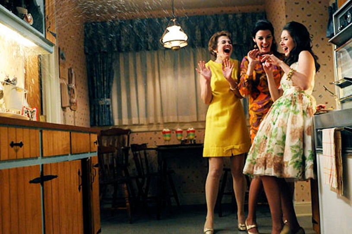"Mad Men - Season 5 - ""Signal 30"" - Larisa Oleynik, Jessica Pare and Alison Brie"