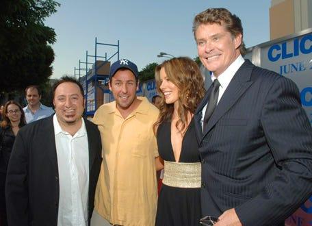 "Frank Coraci, Adam Sandler, Kate Beckinsale and David Hasselhoff - ""Click"" premiere Los Angeles premiere, June 14, 2006"