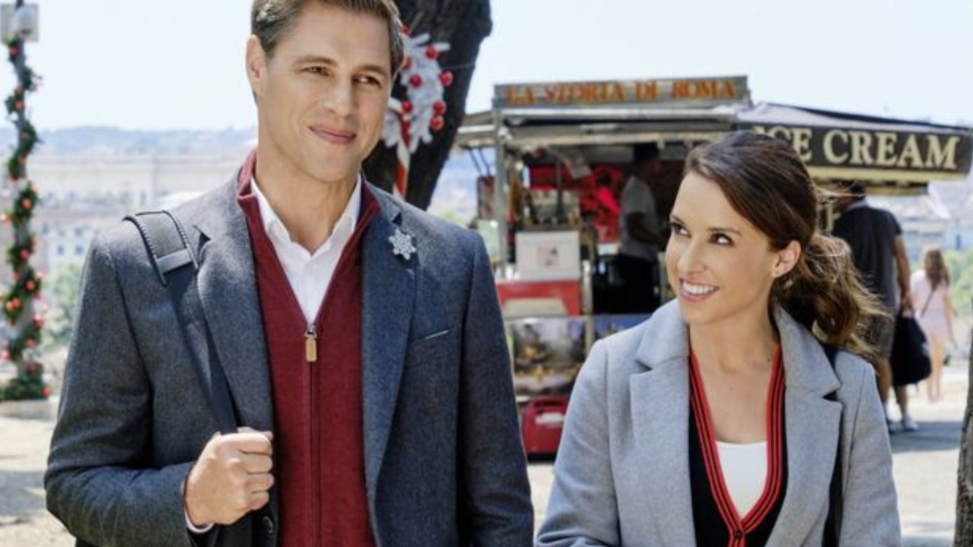 Sam Page and Lacey Chabert, Christmas in Rome