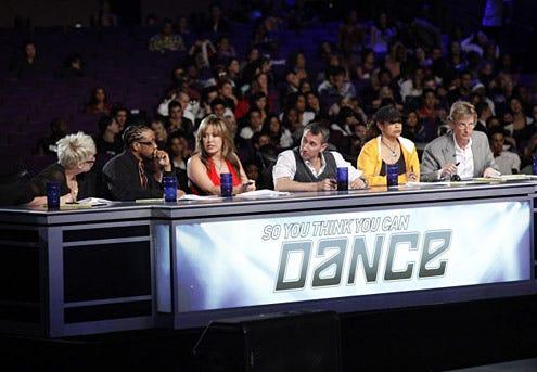 So You Think You Can Dance - Season 5 - Mia Michaels, Lil C, Mary Murphy, Adam Shankman, Debbie Allen and Nigel Lythgoe