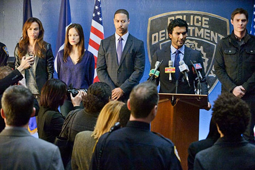 "Beauty and the Beast - Season 1 - ""Any Means Possible"" - Nina Lisandrello, Kristin Kreuk, Brian White, Sendhil Ramamurthy and Max Brown"