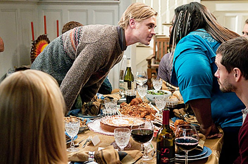 "The Big C - Season 2 - ""The Last Thanksgiving"" - Boyd Holbrook, Gabourey Sidibe and Hugh Dancy"