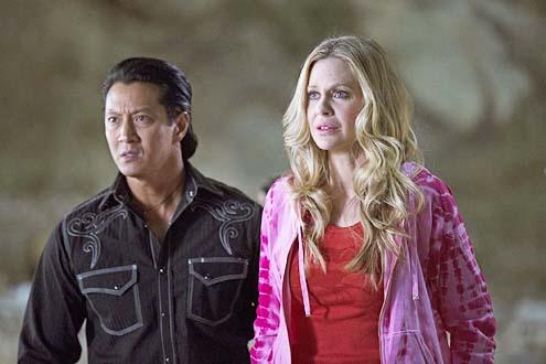 "True Blood - Season 7 - ""Almost Home"" - Will Yun Lee and Kristin Bauer van Straten"