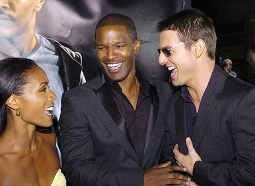 """Jada Pinkett-Smith, Jamie Foxx and Tom Cruise - """"Collateral"""" Los Angeles premiere, August 2, 2004"""