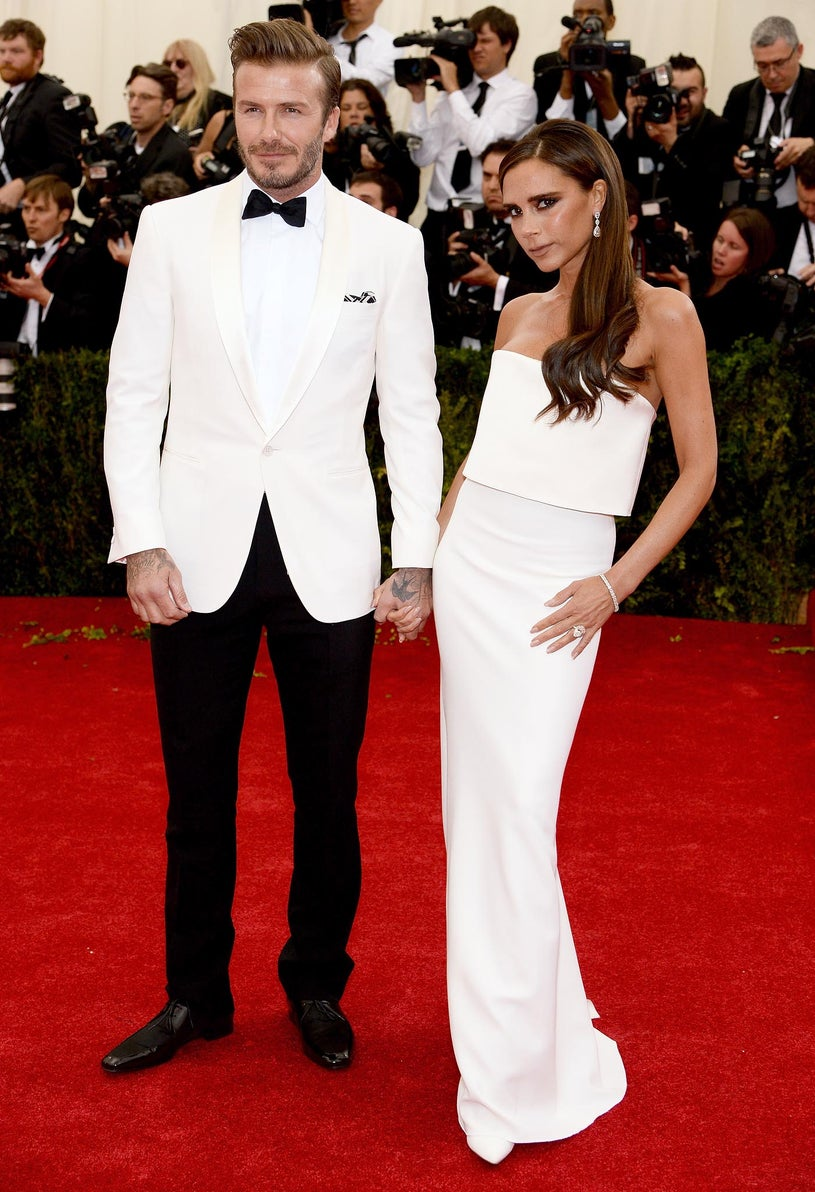 """David and Victoria Beckham - """"Charles James: Beyond Fashion"""" Costume Institute Gala at the Metropolitan Museum of Art in New York City, May 5, 2014"""
