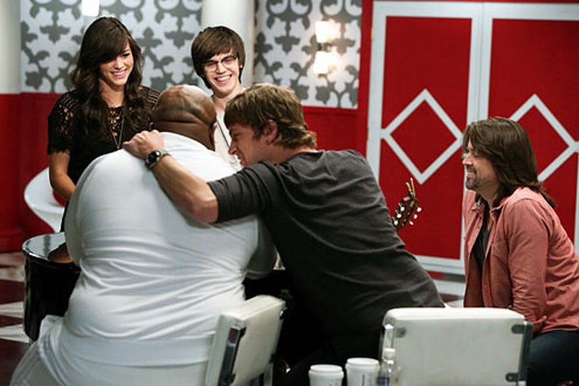 """The Voice - Season 3 - """"The Battles Continue"""" - Emily Earle, Mackenzie Bourg, Cee Lo Green, Rob Thomas and Paul Mirkovich"""
