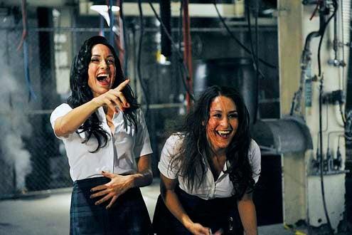 "Psych - Season 8 - ""A Nightmare on State Street"" - Brie Bella and Nikki Bella"