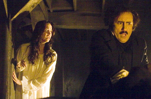 "Masters of Horror - ""Black Cat"" - Elyse Levesque as Virgina, Jeffrey Combs as Edgar Poe"